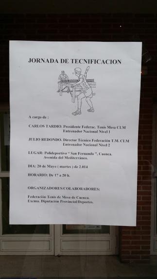 JORNADA DE TECNIFICACIÓN DE TENIS DE MESA EN CUENCA 13