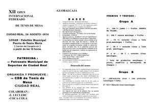 Tríptico XII OPEN INTERNACIONAL FEDERADO-Agosto-14