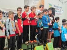Podium equipos alevín masculino