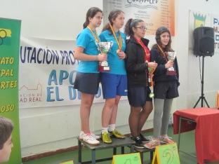 Podium equipos cadete femenino