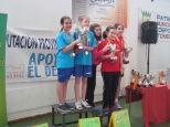 Podium equipos infantil femenino