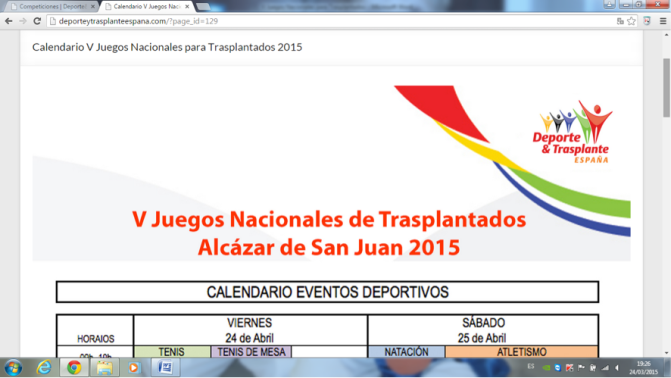V JUEGOS NACIONALES PARA TRASPLANTADOS (ALCAZAR DE SAN JUAN)