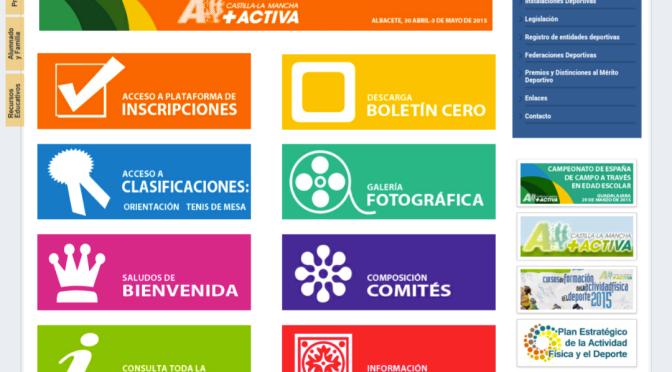WEB OFICIAL DEL CAMPEONATO DE ESPAÑA EN EDAD ESCOLAR DE ALBACETE 2015 (DIRECCION GENERAL DE DEPORTES CLM)