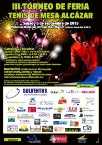 cartel III Torneo Feria Alcázar