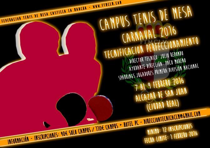 "CAMPUS DE TECNIFICACION CASTILLA LA MANCHA ""CARNAVAL"""