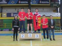 Cadete masculino podium