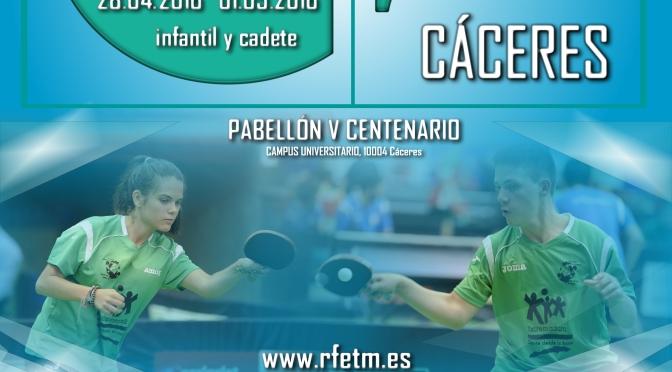 INFORMACION CAMPEONATO DE ESPAÑA ESCOLAR CACERES 2016