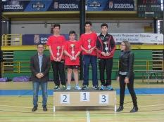 Infantil masculino podium