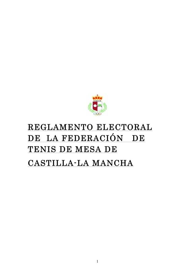 CONVOCATORIA DE ELECCIONES A LA ASAMBLEA Y PRESIDENCIA DE LA FEDREACION DE TENIS DE MESA DE CASTILLA LA MANCHA 2016