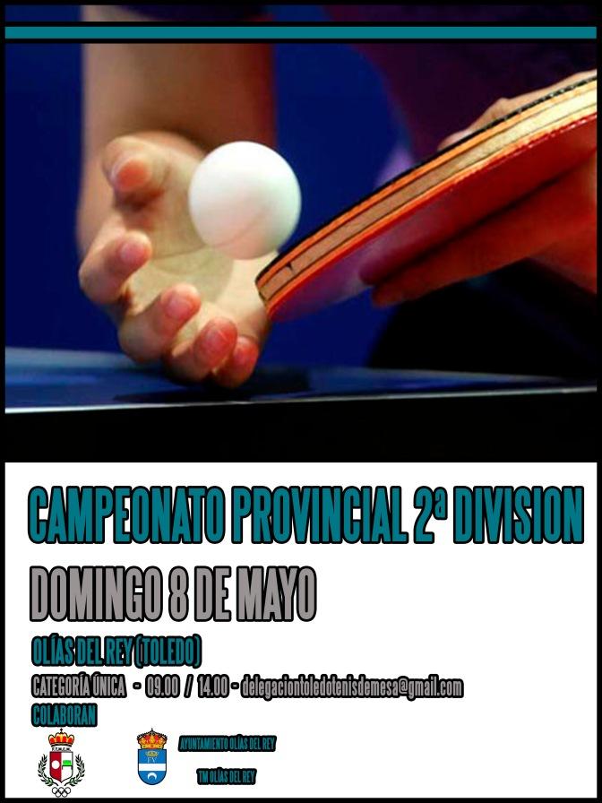 CAMP. PROVINCIAL DE TOLEDO . 2ª DIVISION. MASTER Y GRUPOS