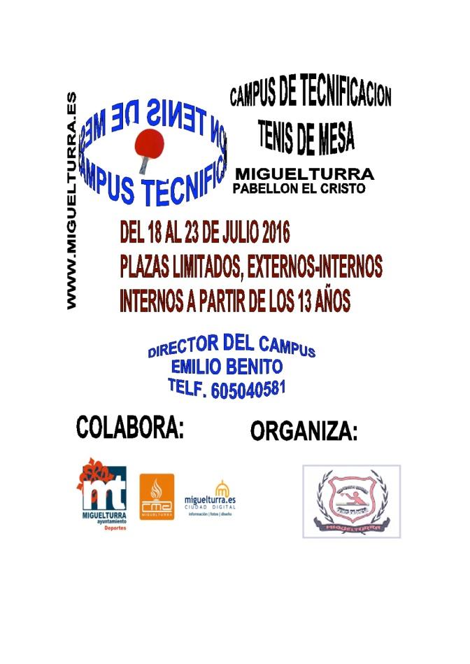 CAMPUS TECNIFICACION TENIS DE MESA MIGUELTURRA