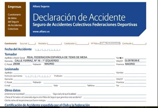 PARTE DE ACCIDENTE