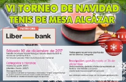 TORNEO DE NAVIDAD TENIS DE MESA ALCÁZAR