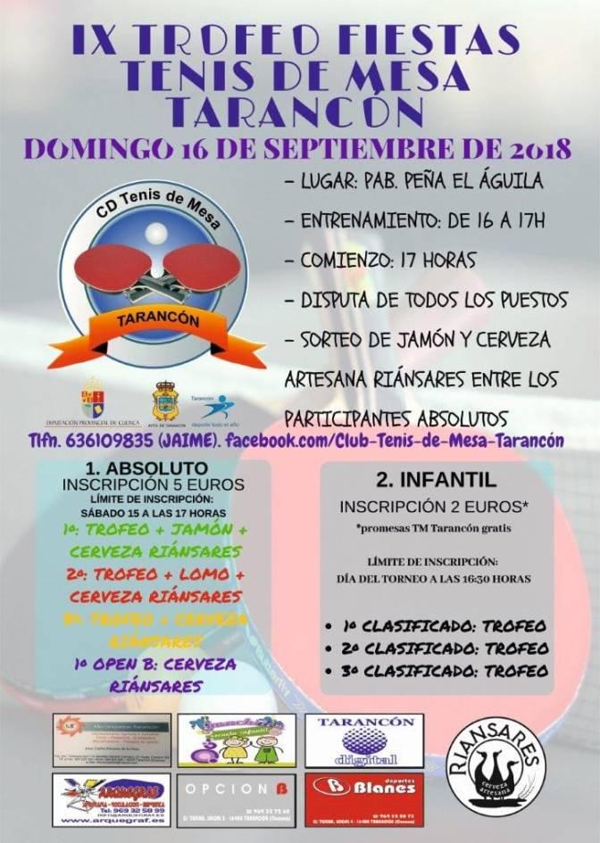 IX Trofeo Fiestas de TARANCON de Tenis de Mesa