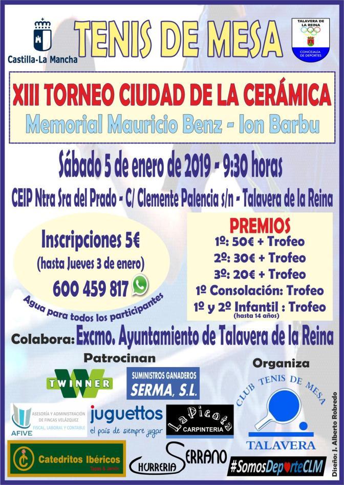 XIII TORNEO CIUDAD DE LA CERÁMICA 2019