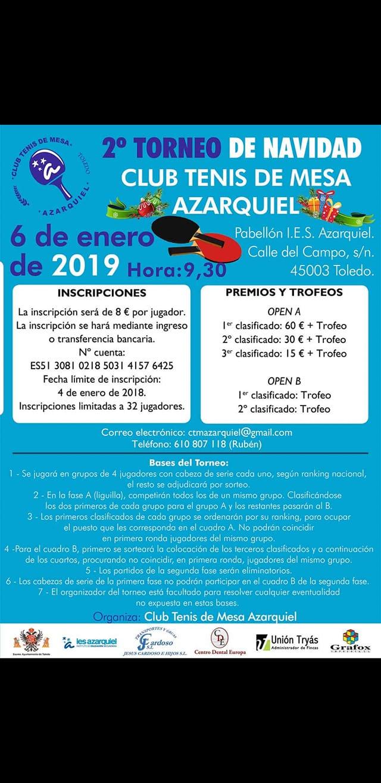II TORNEO NAVIDAD – AZARQUIEL 2019