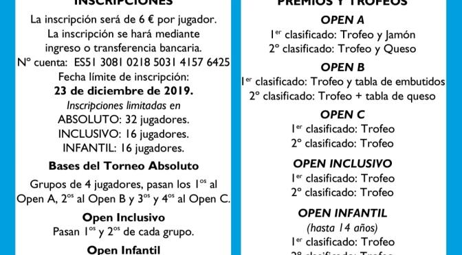 III Torneo NAVIDAD CTM Azarquiel 2019